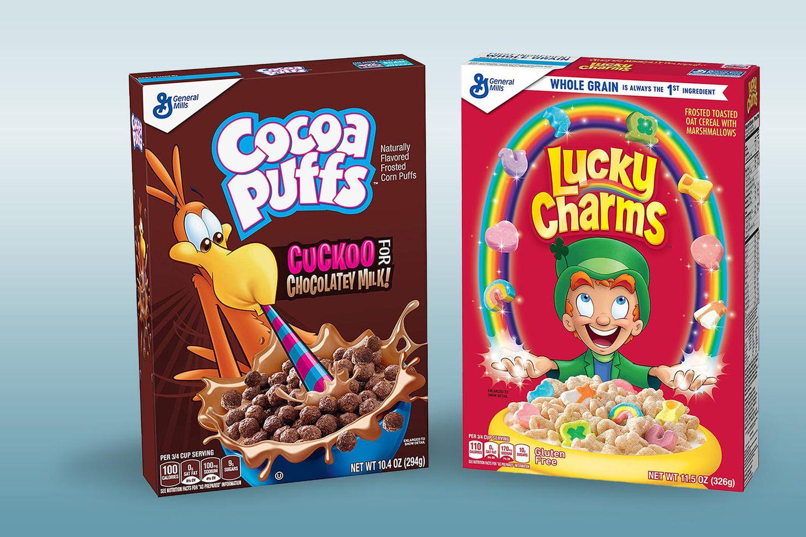 Bæði Cocoa Puffs og Lucky Charms verða áfram í sölu …