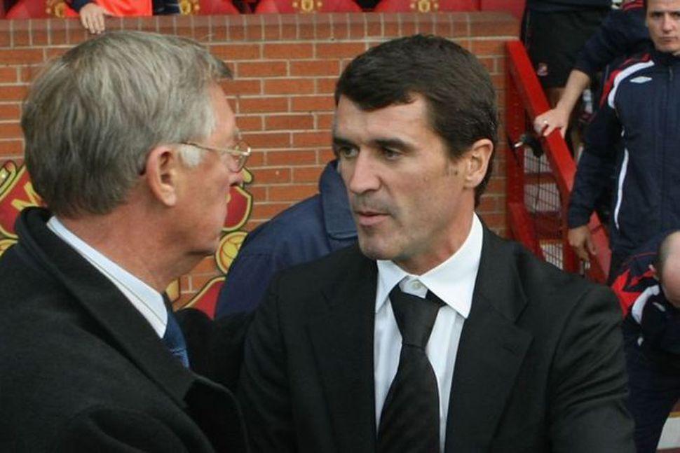 Sir Alex Ferguson og Roy Keane ræða málin.