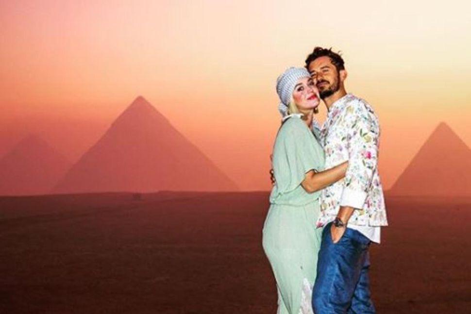 Katy Perry skoðaði meðal annars píramída með unnusta sínum Orlando ...