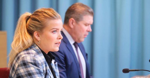 Áslaug Arna Sigurbjörnsdóttir og Bjarni Benediktsson.