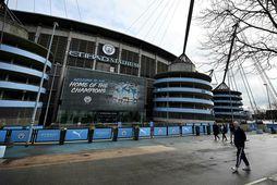 Etihad-leikvangurinn. Heimavöllur Manchester City.