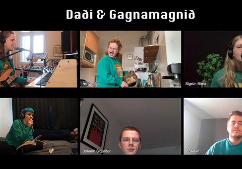 Daði og Gagnamagnið láta kórónuveiruna ekki stöðva sig í að syngja saman.