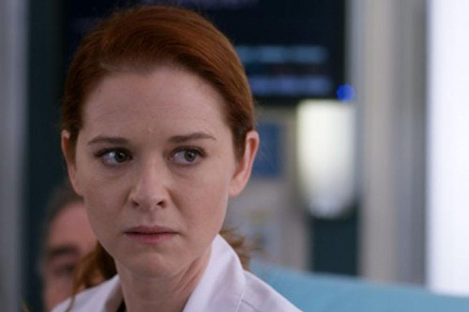 Sarah Drew í hlutverki sínu sem Dr. April Kepner í …