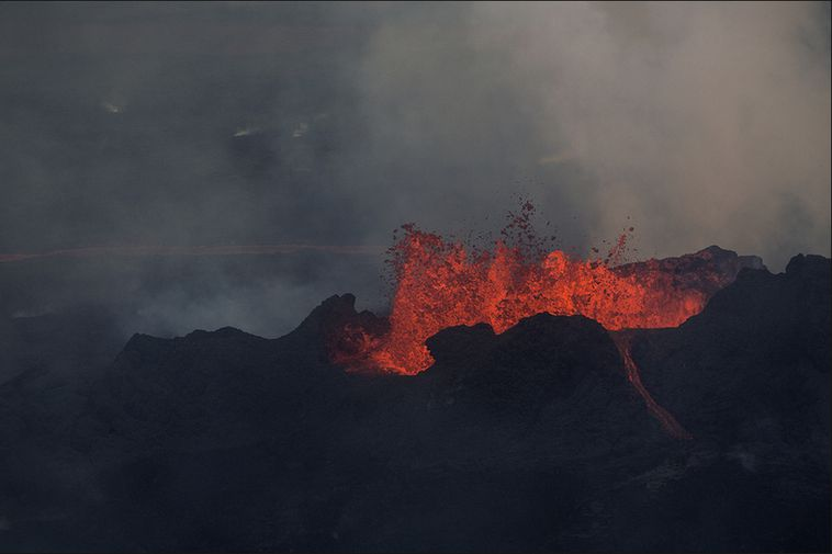 One of the Holuhraun craters.
