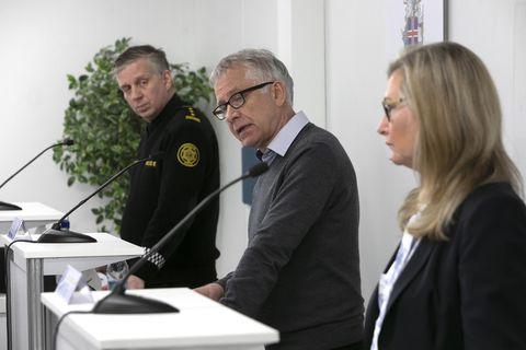Víðir Reynisson, Þórólfur Guðnason og Alma Möller hafa upplýst landsmenn um stöðu mála allt frá …