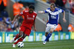 Lee Bowyer í leik með Birmingham gegn Liverpool í september 2010.