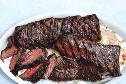 Þessi steik er alveg hreint til fyrirmyndar.