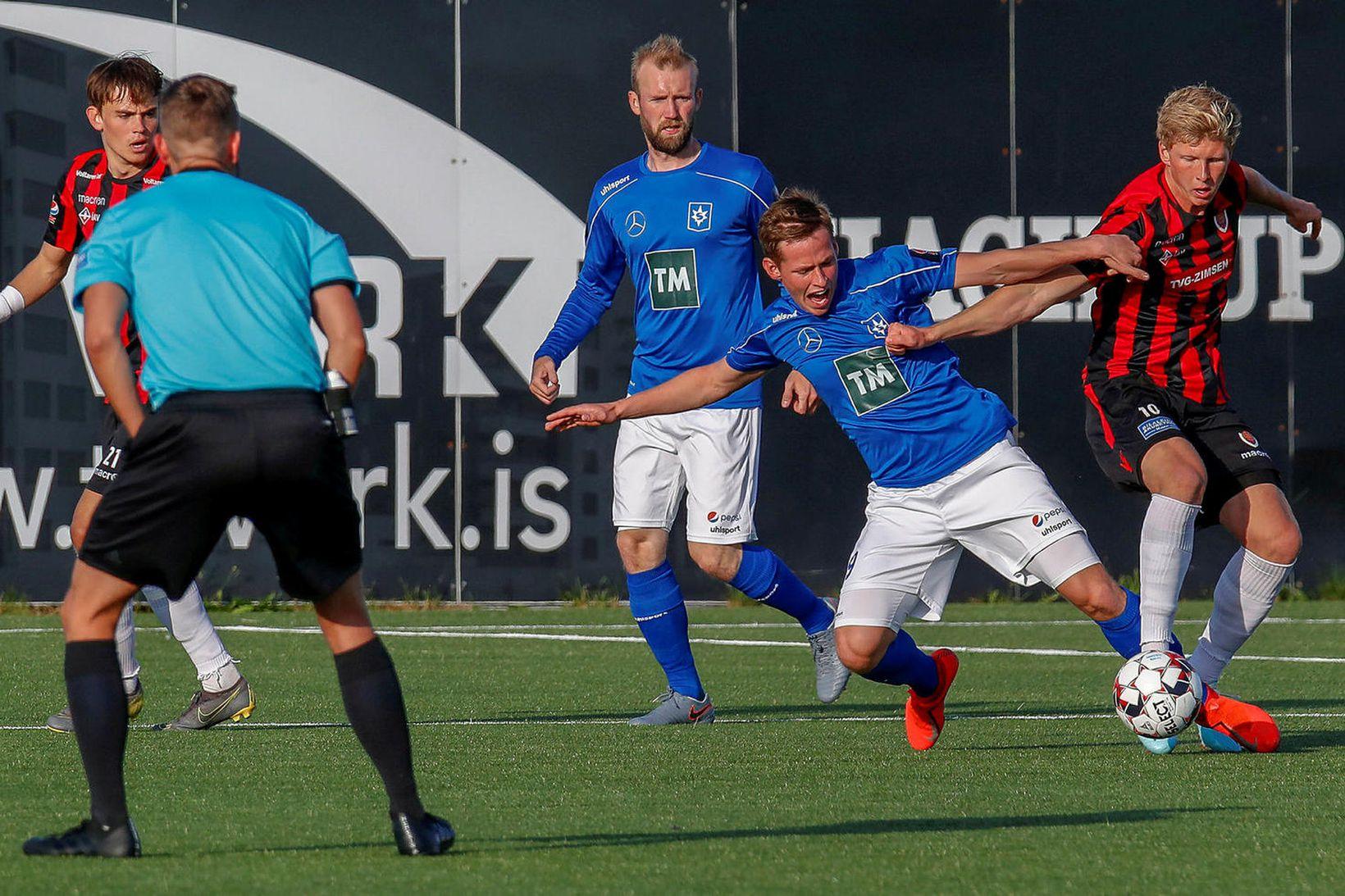 Óttar Magnús Karlsson gerði tvö mörk fyrir Víking.