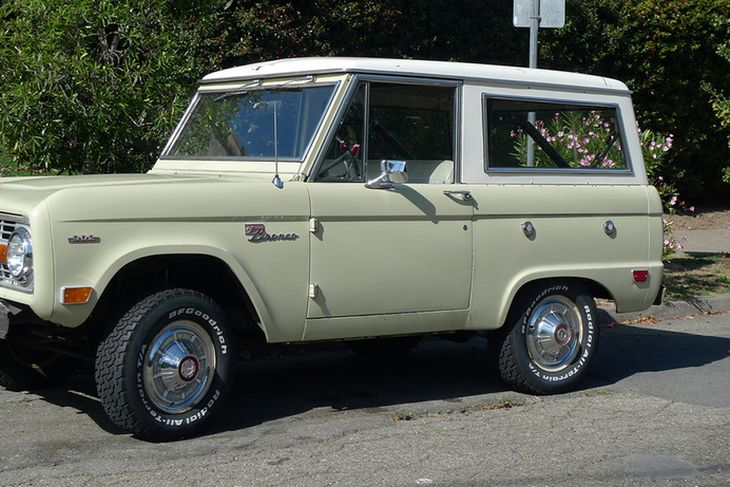Ford Bronco fyrstu kynslóðar, frá 1966.