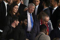 Sir Alex Ferguson var ekki skemmt í stúkunni á Old Trafford um nýliðna helgi.