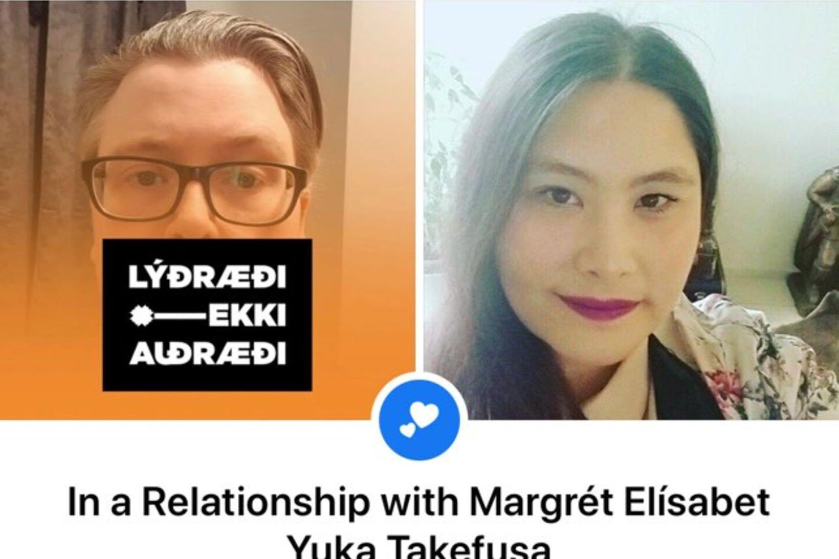 Eyþór Árni Úlfarsson og Margrét Elísabet Yuka Takefusa skráðu sig …