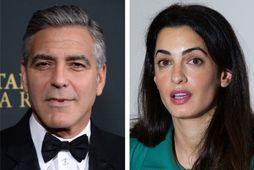 Leikarinn George Clooney og lögmaðurinn Amal Alamuddin.
