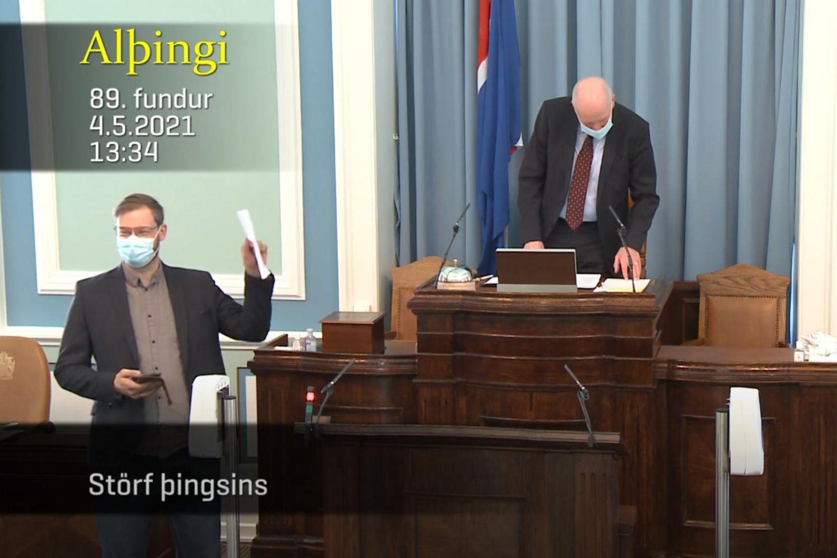 Björn Leví Gunnarsson og Steingrímur J. Sigfússon voru í sumarskapi …