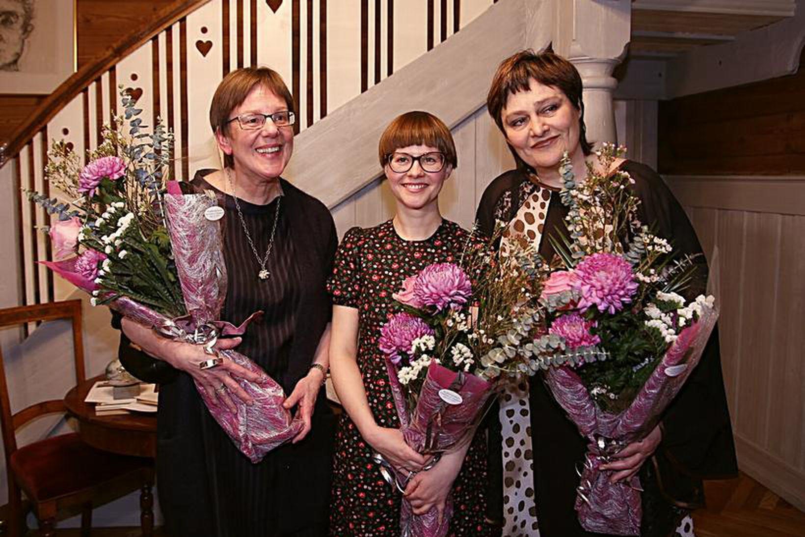 Frá vinstri: Þórunn Sigurðardóttir, Hildur Knútsdóttir og Halldóra K. Thoroddsen.