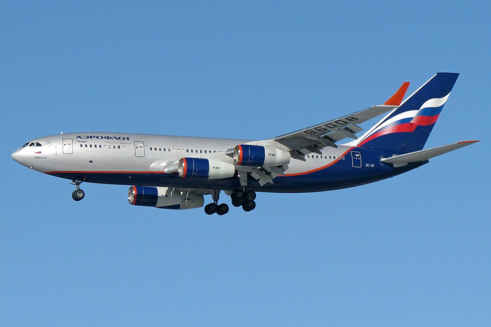 Aeroflot-vél af gerðinni Ilyushin Il-96-300.