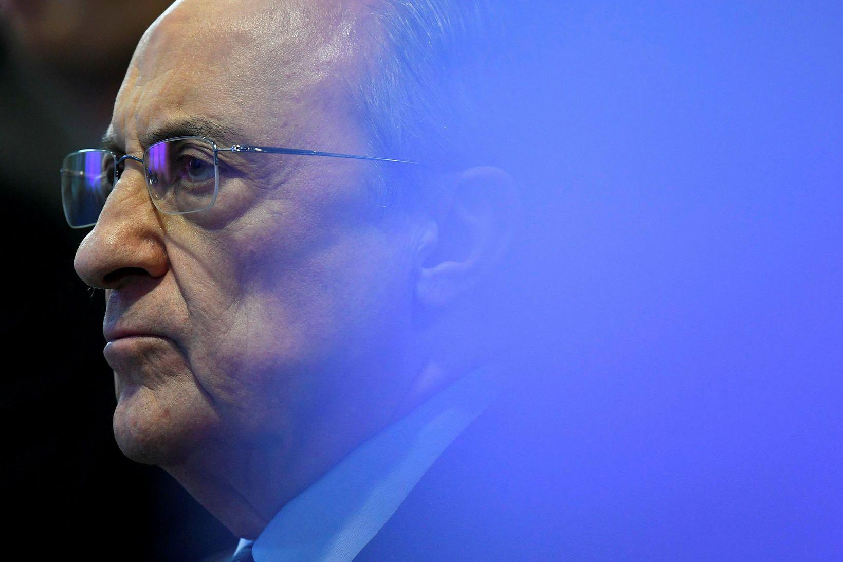 Florentino Pérez, forseti Real Madrid, hefur verið mikið í umræðunni …