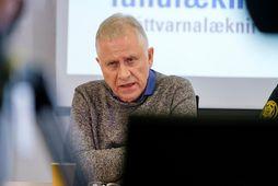 Þórólfur Guðnason sóttvarnalæknir á fundinum í dag.