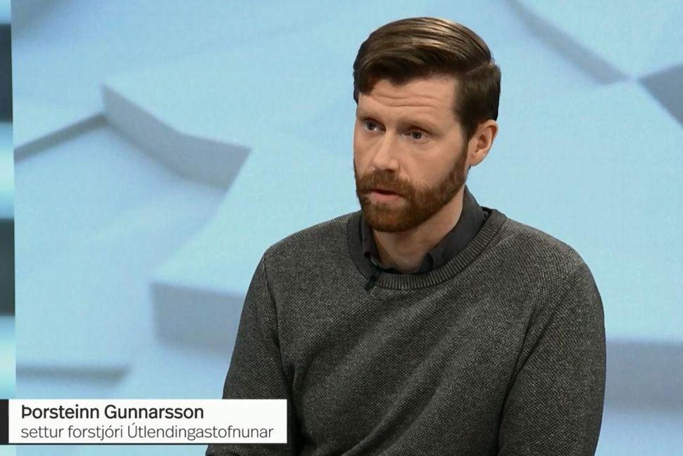Þorsteinn Gunnarsson settur forstjóri Útlendingastofnunar var gestur í Kastljósi fyrr ...