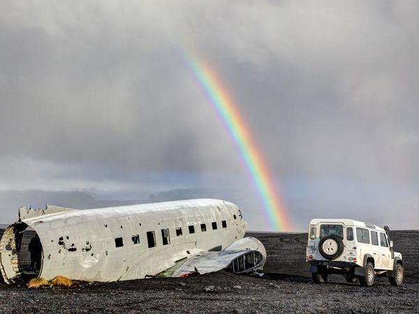 The American plane wreck in Sólheimasandur, South Iceland.