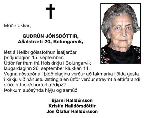 Guðrún Jónsdóttir,