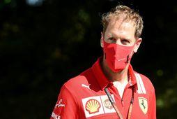 Sebastian Vettel í Monza fyrir tæpri viku.