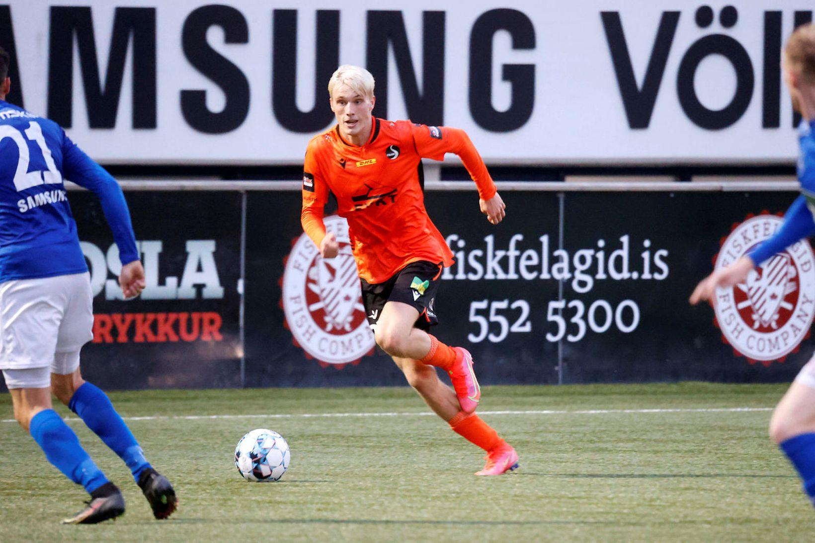 Arnór Borg Guðjohnsen í leik gegn Stjörnunni í síðasta mánuði.