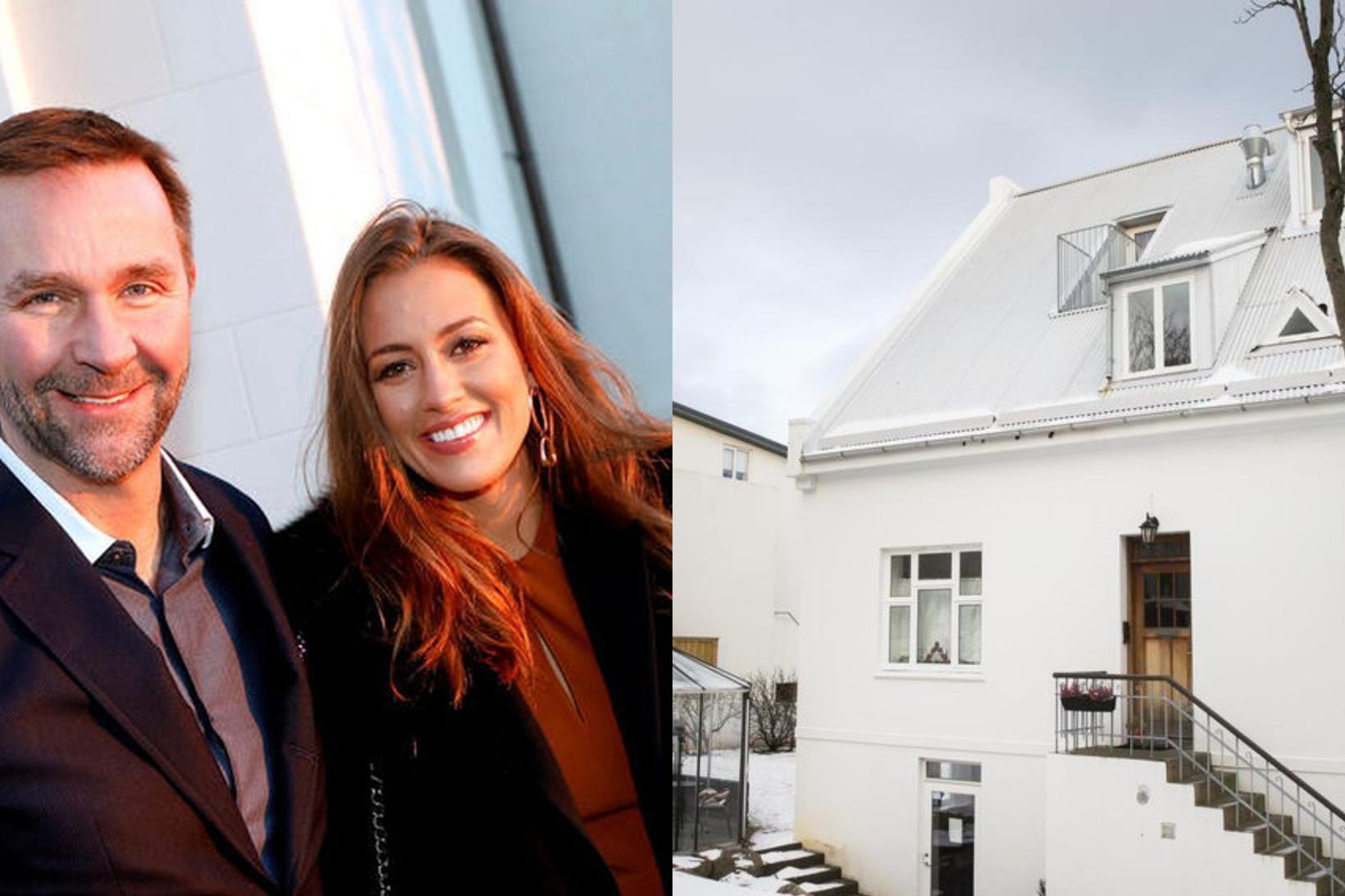 Skúli Mogensen og Gríma Björg Thorarensen eiga nú Bárugötu 11 …