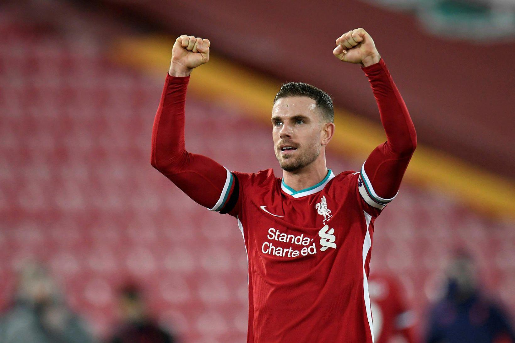 Jordan Henderson, fyrirliði Liverpool.
