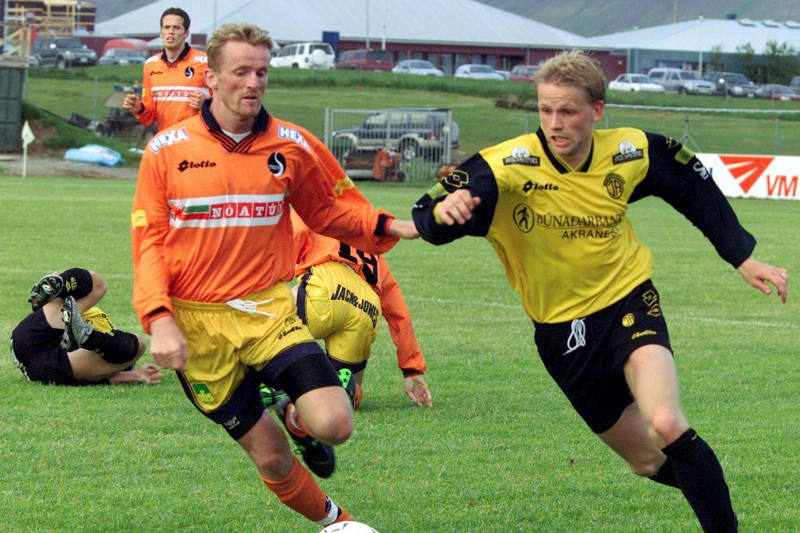 Sverrir Sverrisson var í Fylkisliðinu árið 2002. Hér eru hann …
