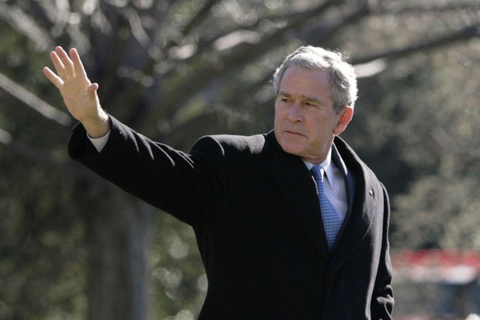 George Bush, Bandaríkjaforseti.