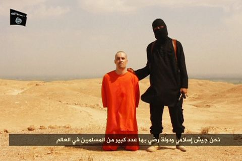Úr myndbandinu þar sem James Foley er afhöfðaður.