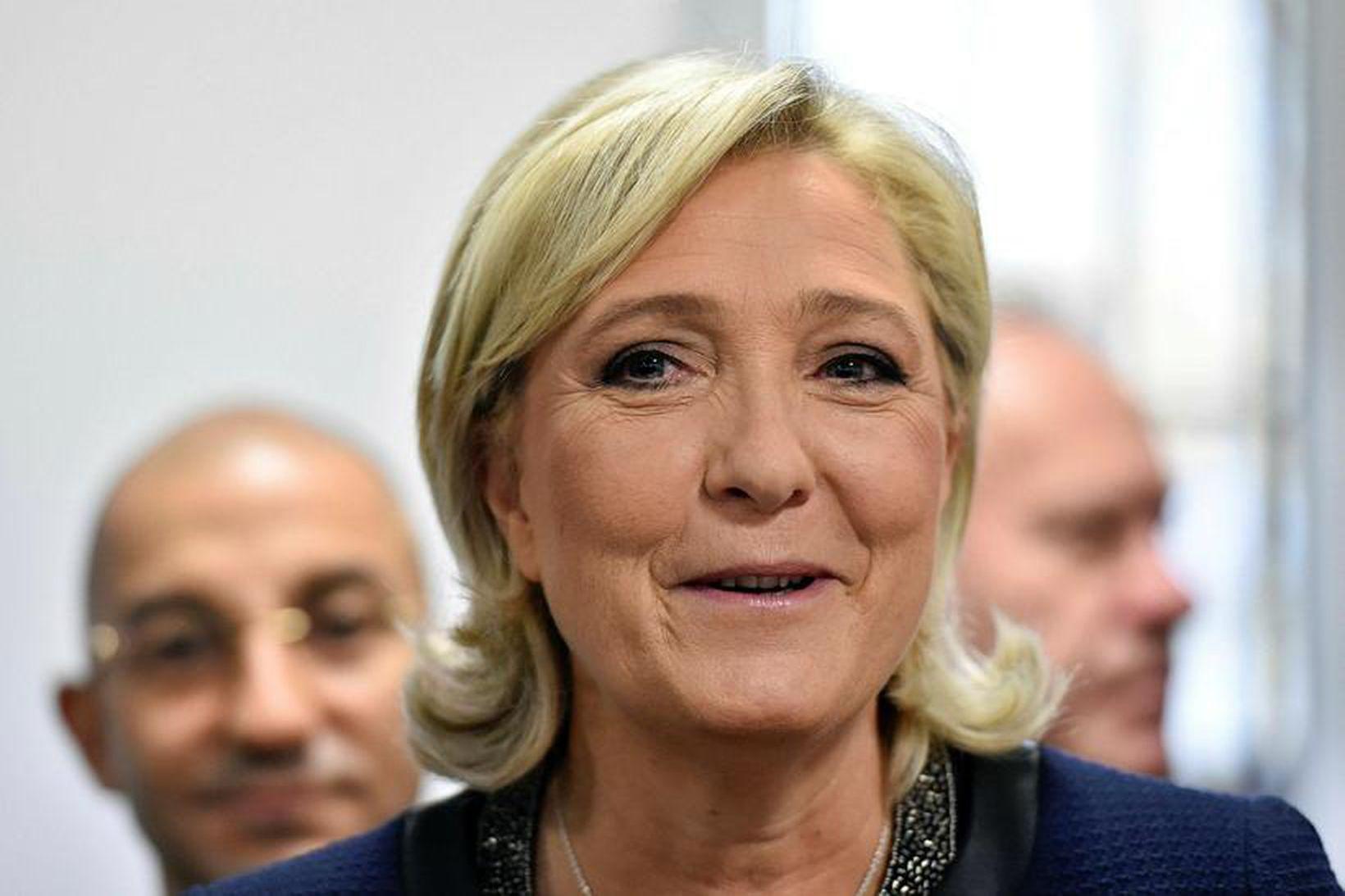 Marine Le Pen, forsetaframbjóðandi Frönsku þjóðfylkingarinnar.