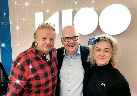 Jón Axel, Kristín Sif og Ásgeir Páll í Ísland vaknar á K100.