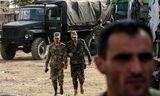 Stjórnarher al-Assad Sýrlandsforseta hefur m.a. komið sér fyrir í borginni Manbij í norðausturhluta Sýrlands.