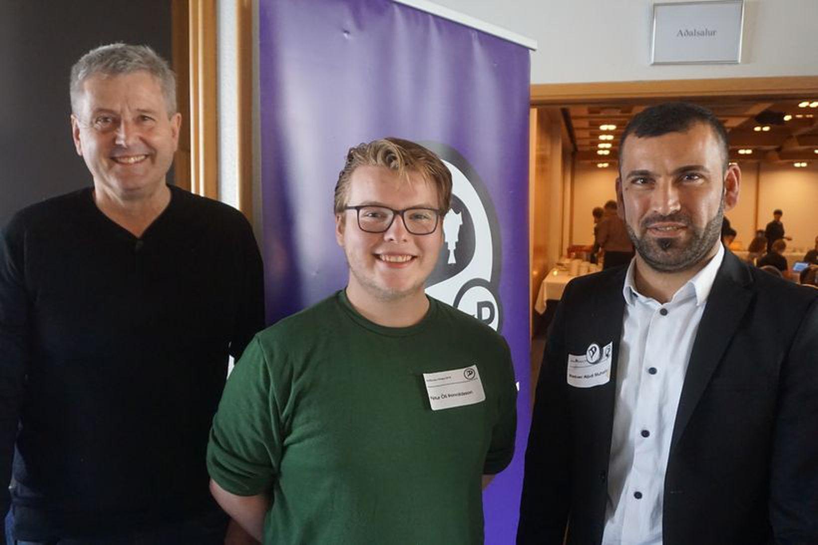 Steinar Guðlaugsson, Pétur Óli Þorvaldsson og Reber Abdi Muhamed.