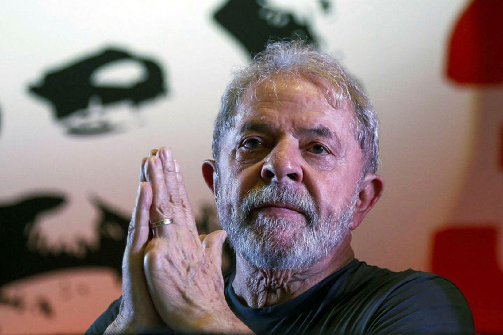 Luiz Inacio Lula da Silva, fyrrverandi forseti Brasilíu, naut mikil …