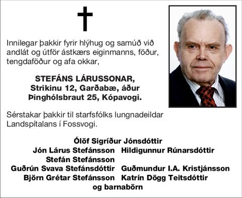 Stefáns Lárussonar,