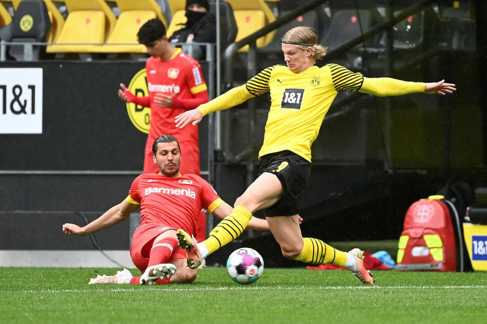 Erling Braut Haaland skoraði 41 mark fyrir Dortmund á nýliðinni …