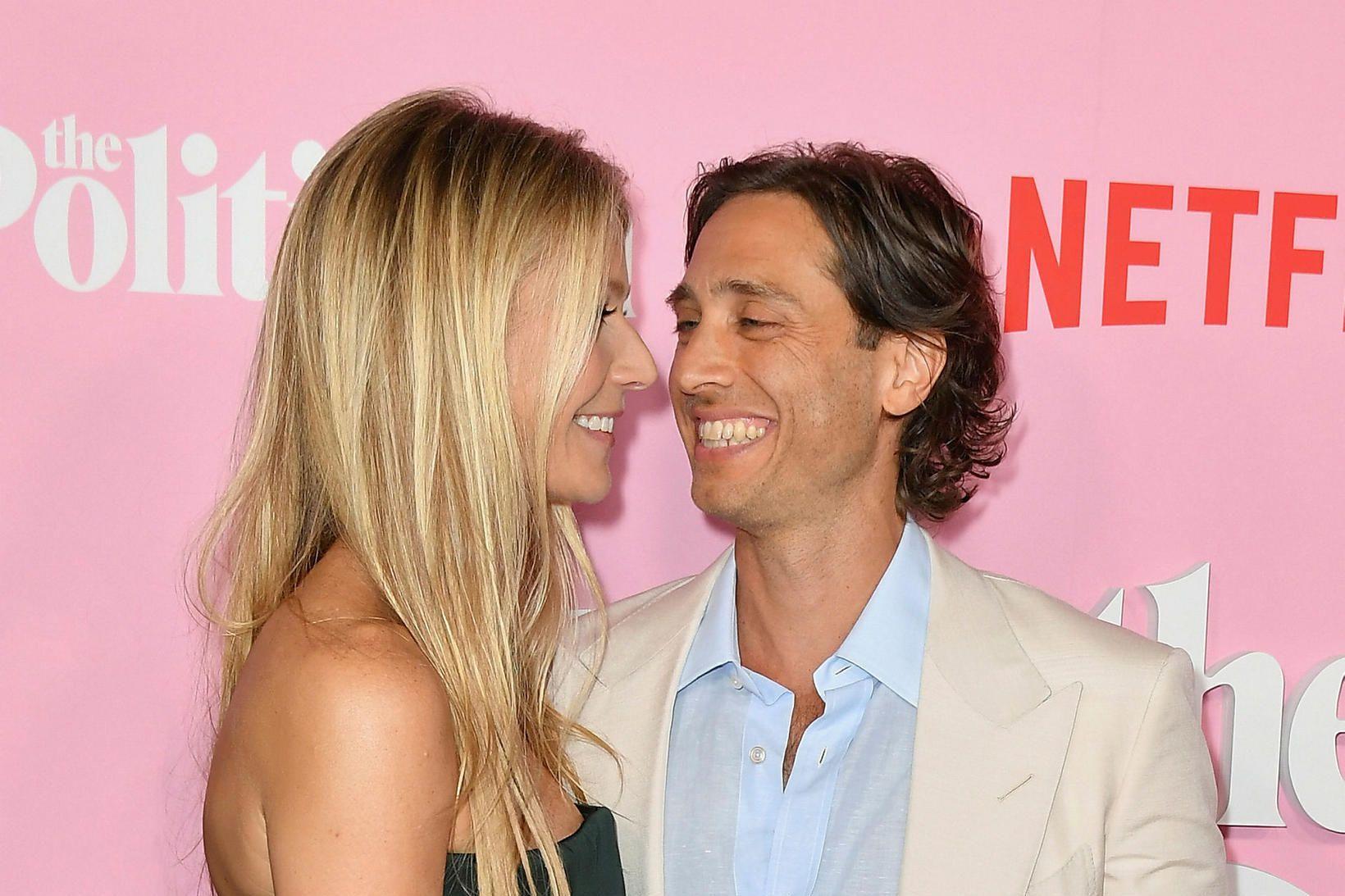 Gwyneth Paltrow og eiginmaður hennar Brad Falchuk.