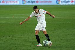 Sergio Reguilon í leik með Sevilla á tímabilinu.