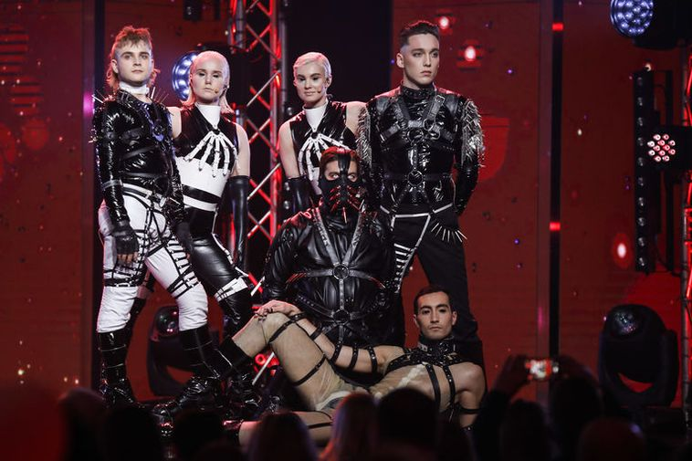 Hatari have a very provocative stage appearance.
