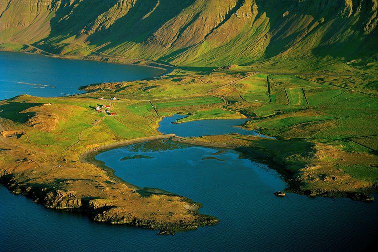 Hvammsvík cove.