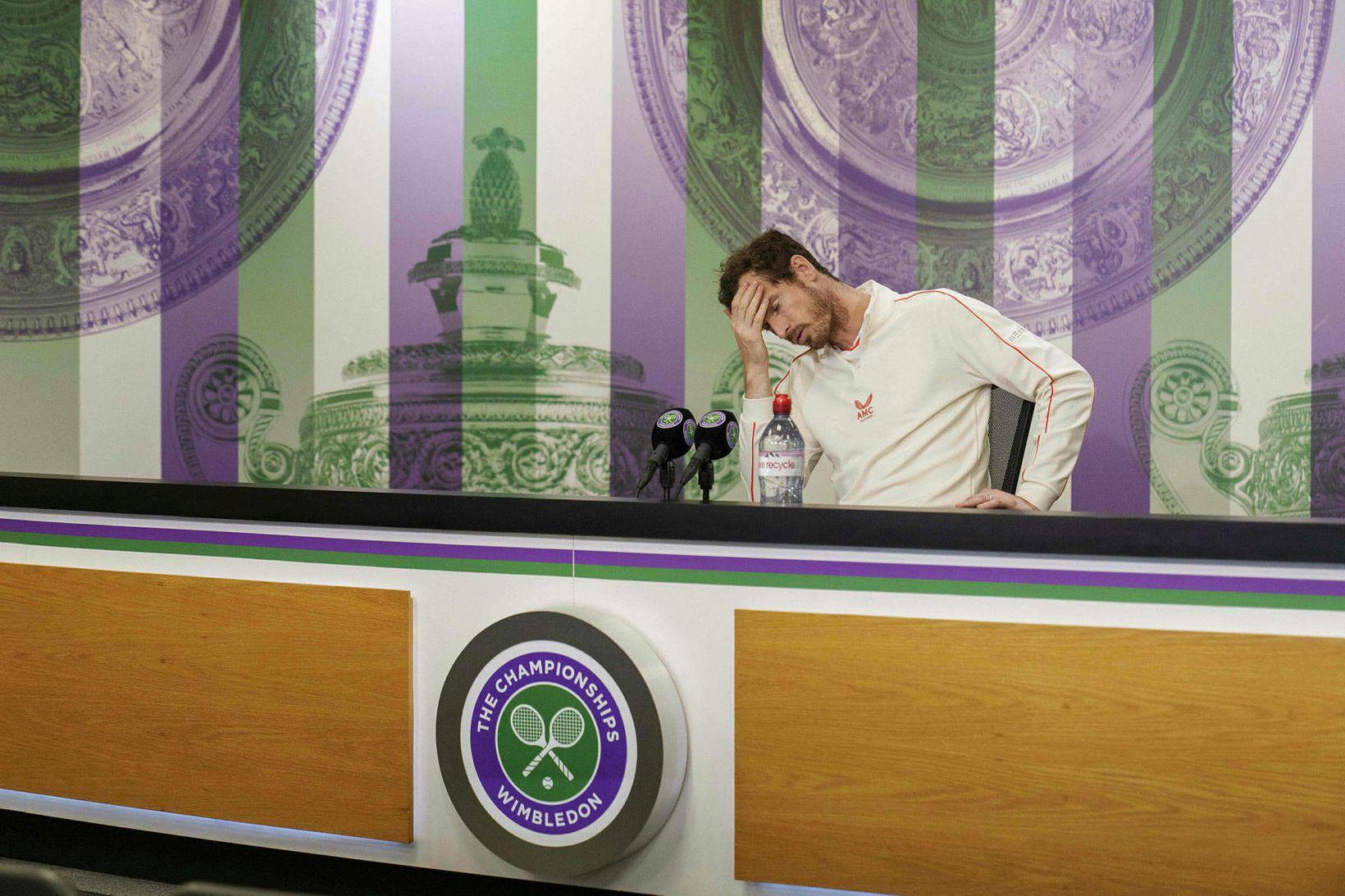 Andy Murray var dapur í bragði þegar hann ræddi við …