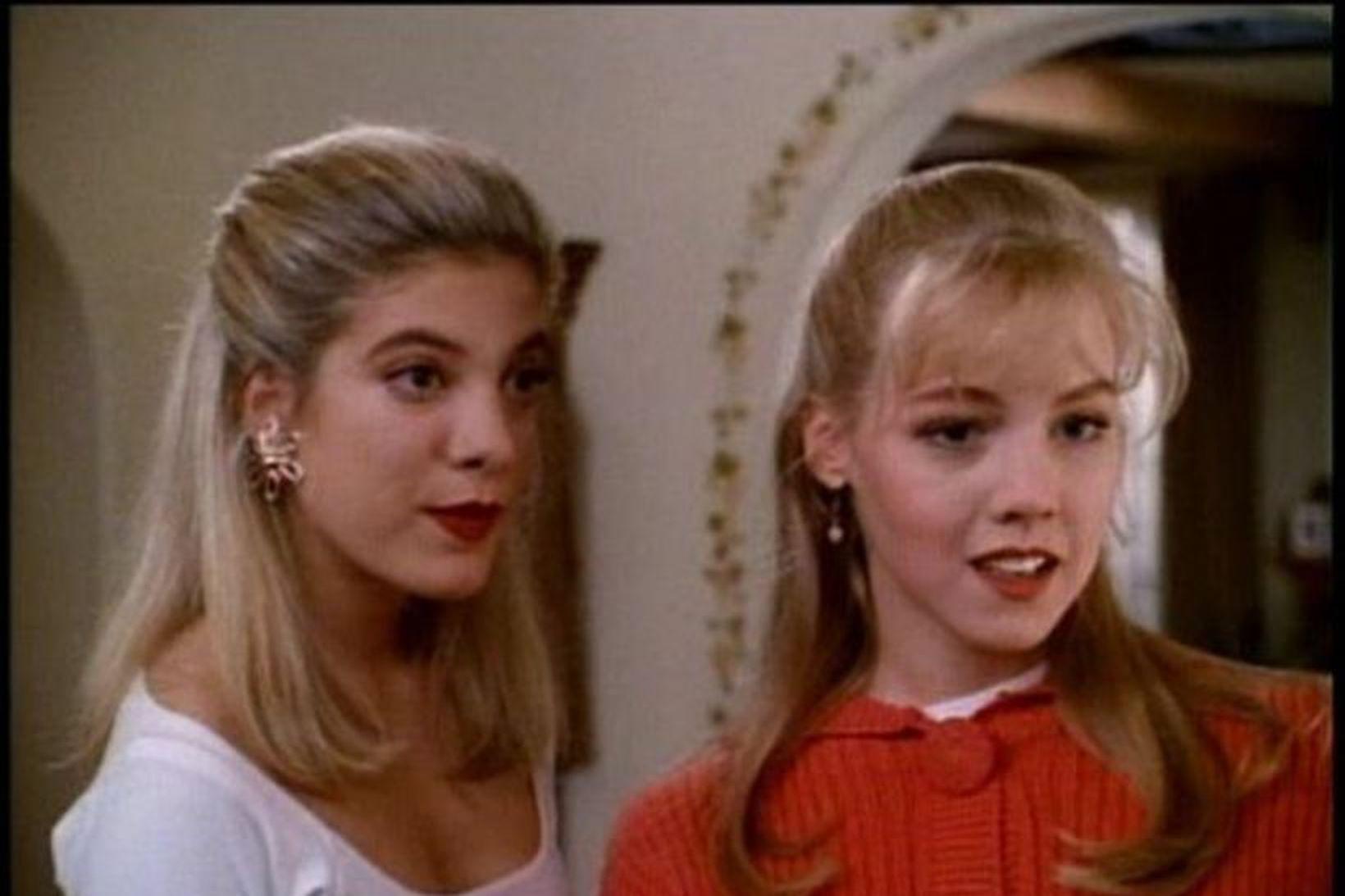 Stöllurnar Donna og Kelly í Beverly Hills eða Tori Spelling …