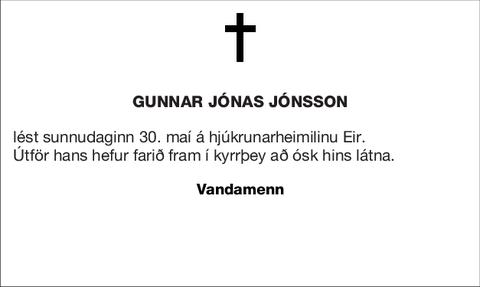 Gunnar Jónas Jónsson