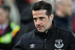 Marco Silva fékk reisupassann eftir tap gegn Liverpool í ensku úrvalsdeildinni í gær.
