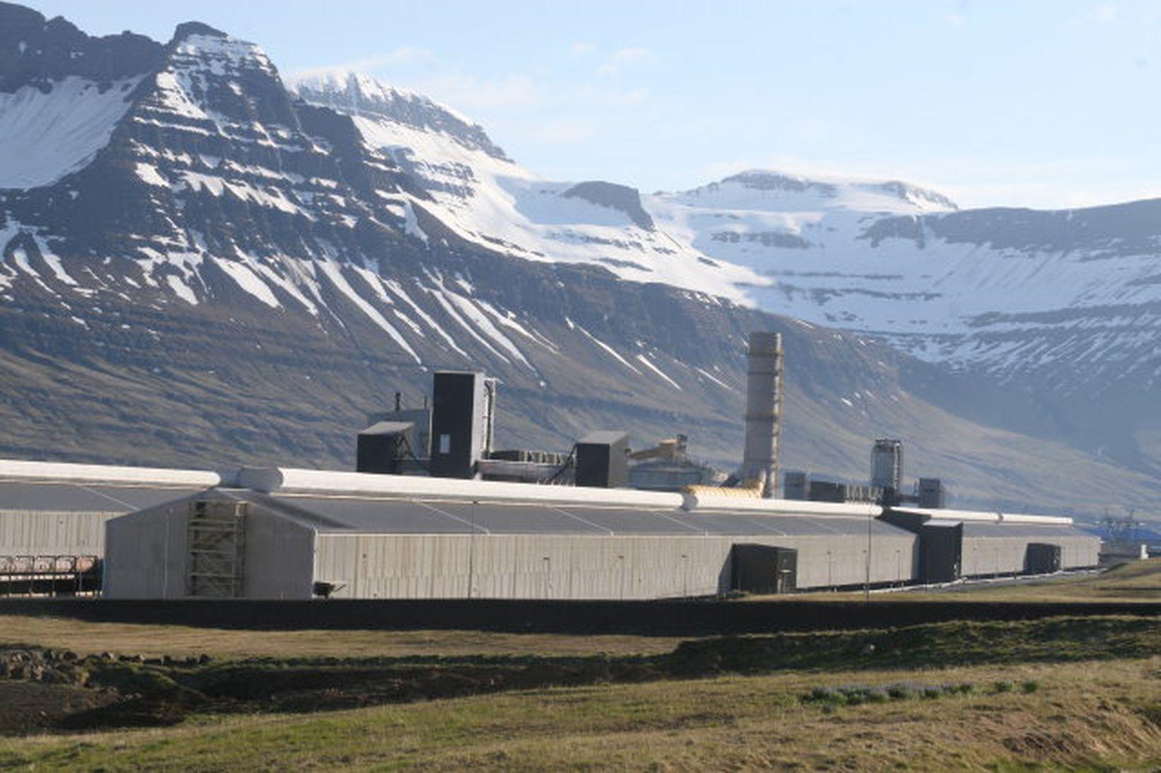 Álver Alcoa-Fjarðaáls í Reyðarfirði.