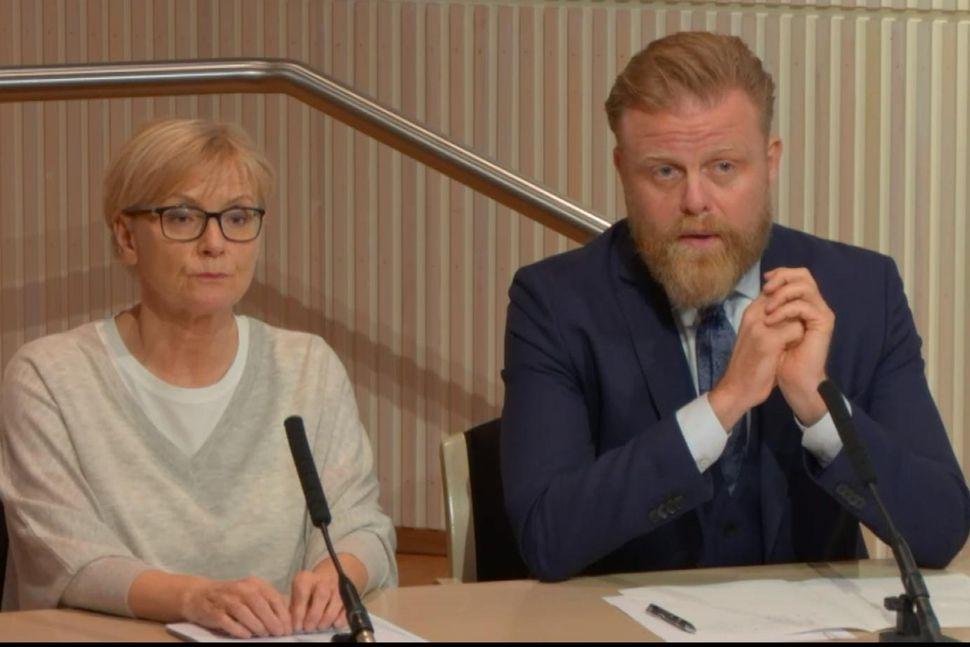 Rannveig Sigurðardóttir aðstoðarseðlabankastjóri og Ásgeir Jónsson seðlabankastjóri á kynningarfundi bankans ...