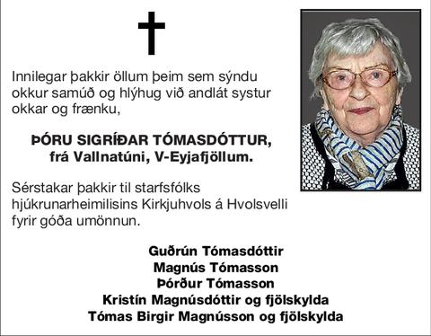 Þóru Sigríðar Tómasdóttur,