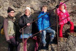 Sigurður Bragason teiknaði heilan ævintýraheim með fjölskyldu sinni, þeim Nicolu Keller, Felix og Miriam.